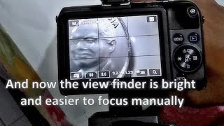 How to solve Dark LCD Screen on Canon EOS Manual Focus Mode (Bypass Exposure Simulation)