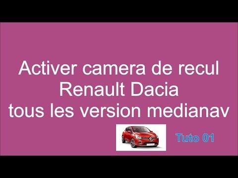 Activer camera de recul symbole stepway clio logan...renault dacia