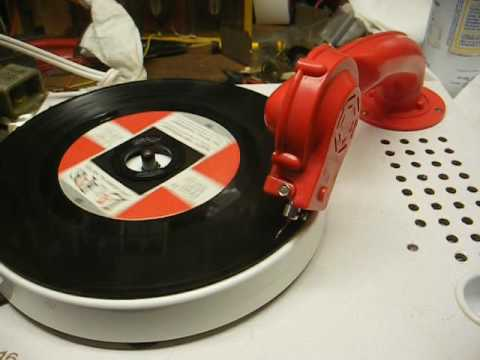 Acoustically amplified kiddie record player from 1974