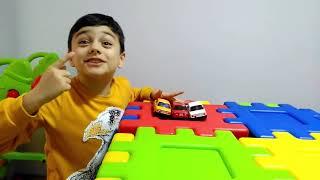 Emir & Daddy and cute toy Car