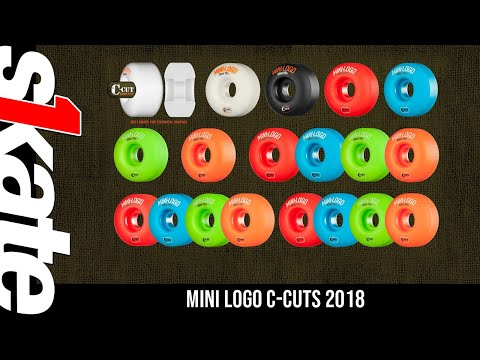 Mini Logo Skateboard Wheels C-cut 54mm 101A Green 4pk