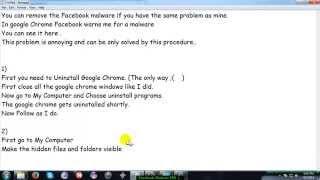 Facebook Malware Fix