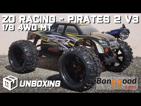 • ZD Racing - Pirates 2 V3 - 1/8 4WD MT - In-Depth unboxing 👀 •