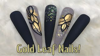 Matte Gold Leaf Nails | Vincent Chen Inspired | Nail Sugar | Nailchemy