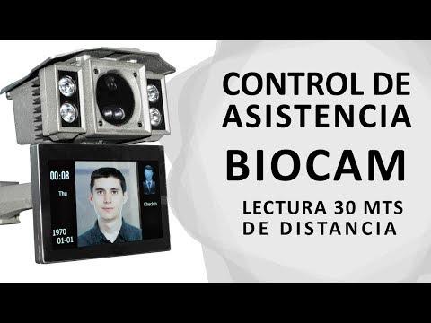 Control de Asistencia BioCam 300 lectura de rostro