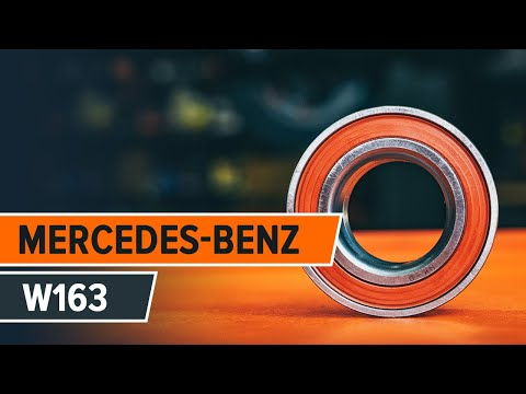 How to replace front wheel bearing on MERCEDES-BENZ M W163 TUTORIAL | AUTODOC