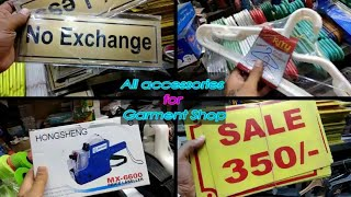 Decorative Items For Garments Shop | हेंगर, Price Tag Machine, Boards