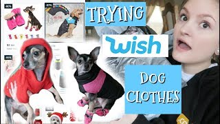 TRYING CHEAP DOG CLOTHES FROM WISH! *SUCCESS* | Vlogmas Day 8 | 2018 |