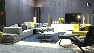 Video ligne roset imm cologne 2018 lifestyle tv for Interior design messe