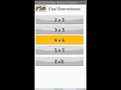 Video of PSN Determinant Calculator