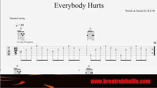 Guitar Tab   Everybody Hurts   REM