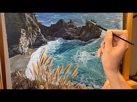 Thumbnail of Time Lapse - McWay Falls, Big Sur - Landscape Oil Painting