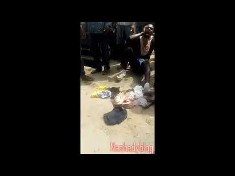 A Yahoo boy caught stealing girls under wears for ritual