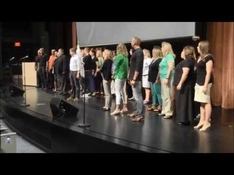 "Flash Mob ""One Day More"" (Les Mis…with CC subtitles)  – West Des Moines Schools – Welcome Back"
