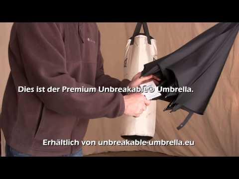 Selbstverteidigungsschirm vs. Unbreakable® Umbrella - Der Unzerbrechliche Regenschirm - Das Original