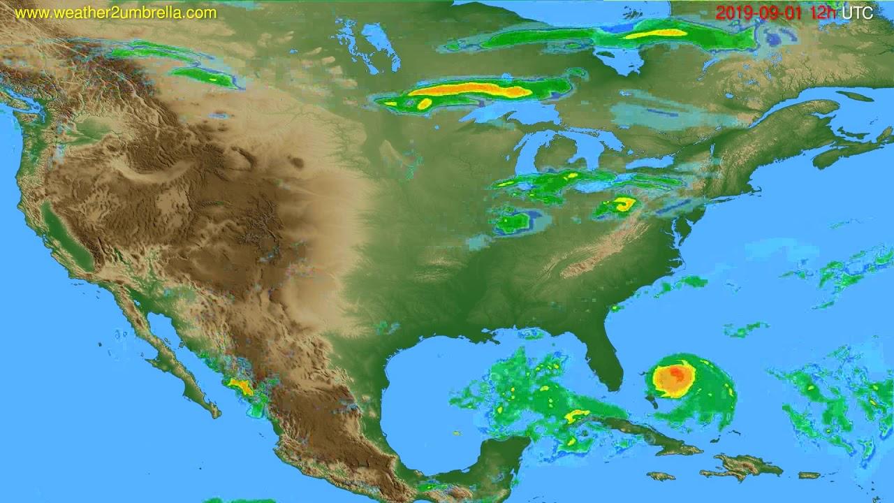 Radar forecast USA & Canada // modelrun: 00h UTC 2019-09-01