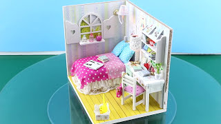 "DIY Miniature Dollhouse Kit With Working Lights ""Annabelle's Room"""