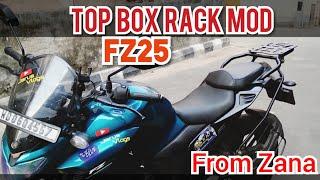 Fz25 Modification || Top Rack Installed On Fz25 || Zana Internasnal