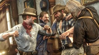 GETTING INTO A MASSIVE BAR FIGHT! | RED DEAD REDEMPTION 2 OUTLAW LIFE #3