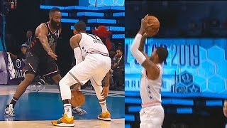 Paul George Schools James Harden Using His Step Back Move Then Calls Him Out For Travelling!