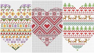 Sweet Cross Stitches In Heart Border Line Ideas Beautiful Collection
