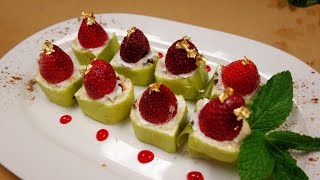 Strawberry Nutella Cheesecake Roll - How To Make Sushi Series