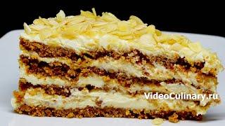 Торт Пломбир без выпечки, без миксера - простой рецепт от https://www.videoculinary.ru/