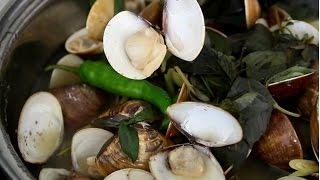 NGHÊU HẤP SẢ – Steamed CLAMS with Lemongrass