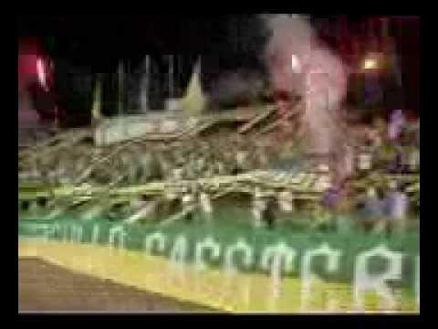 """""""ARTILLERIA VERDE SUR, MANDA EN EL EJE"""" Barra: Artillería Verde Sur • Club: Deportes Quindío"""