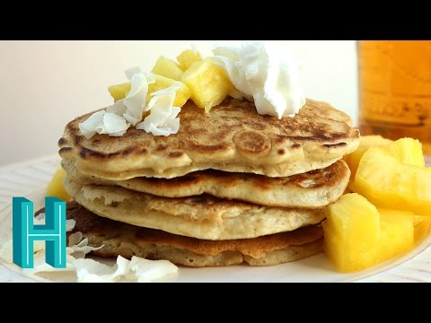 How to Make Piña Colada Pancakes | Hilah Cooking
