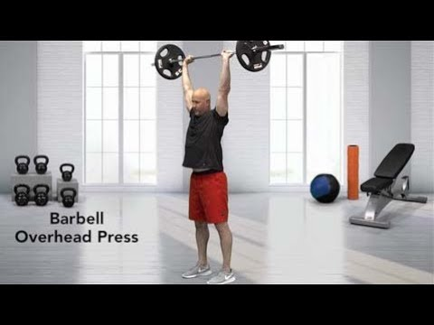 Standing Barbell Military Press (AKA Overhead Press)