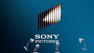 1197-Four Pixar Lamps Luxo Jr Logo Spoof Sony Pictures