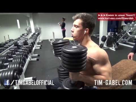 Tim Gabel 60kg Kurhanteldrücken auf der Schrägbank - Tim versagt..  - TIM-GABEL.COM