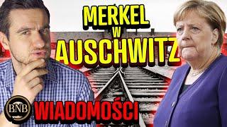 Merkel PIERWSZY RAZ w Auschwitz! Ale ZAPOMNIAŁA o Polakach | WIADOMOŚCI
