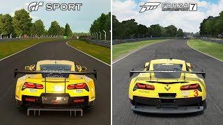 Gran Turismo Sport vs Forza Motorsport 7 Comparison   Corvette C7 Brands Hatch @ 1440p (60ᶠᵖˢ) ✔