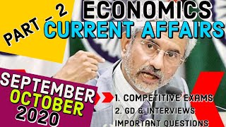 Economic current affairs Sepetember, October 2020 explained | EXAM FOCUS CUURENT AFFAIRS -PART 2