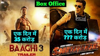 Sooryavanshi Akshay Kumar Vs Baaghi 3 Tiger Shroff 1st Day Box Office Collection