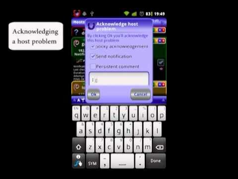 Video of uNagi Nagios client on android