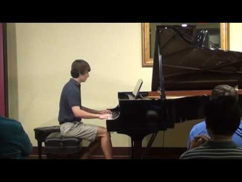 Student Philip plays River City Blues by Mier