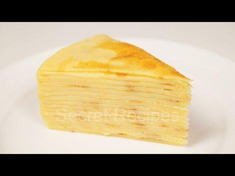 Торт наполеон из блинчиков. Блинный торт с заварным кремом | Сrepe cake