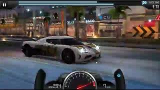 Csr Racing - Fastest car in Csr Racing ( koenigsegg agera r ) - top speed 308mp/h
