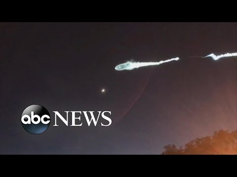 SpaceX rocket launch sparks reports of strange light