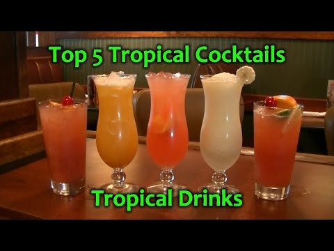 Video Top 5 Tropical Cocktails Best Rum Drinks Easy Cocktail