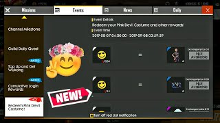 How To Collect Emote Badges & Redeem Pink Devil Costume?? 💥 FREE FIRE NEW UPDATE