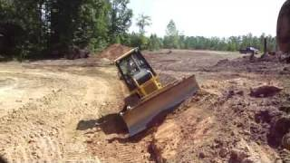 Dozer Working on a Steep Slope