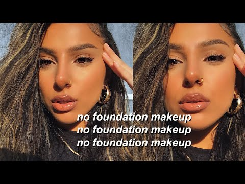 NO FOUNDATION MAKEUP ROUTINE (tutorial for school/college/work)