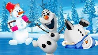 Новогодняя детская песня и мультик - Веселые Снеговики
