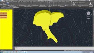 Плагин по формированию отвалов (насыпей) в AutoCAD Civil 3D 2016