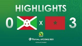 Élim. CAN 2021 : Burundi 0-3 Maroc