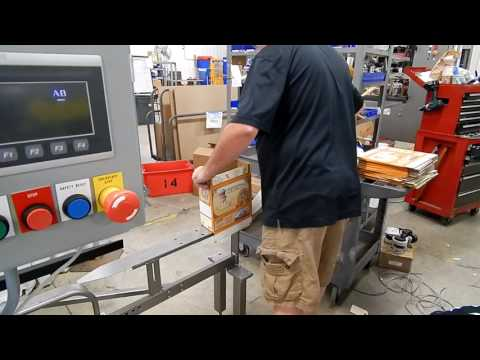 Selladora de cajas Hot Melt TBS-100FC XL HM con Riel Tipo T para el empaque manual de cajas